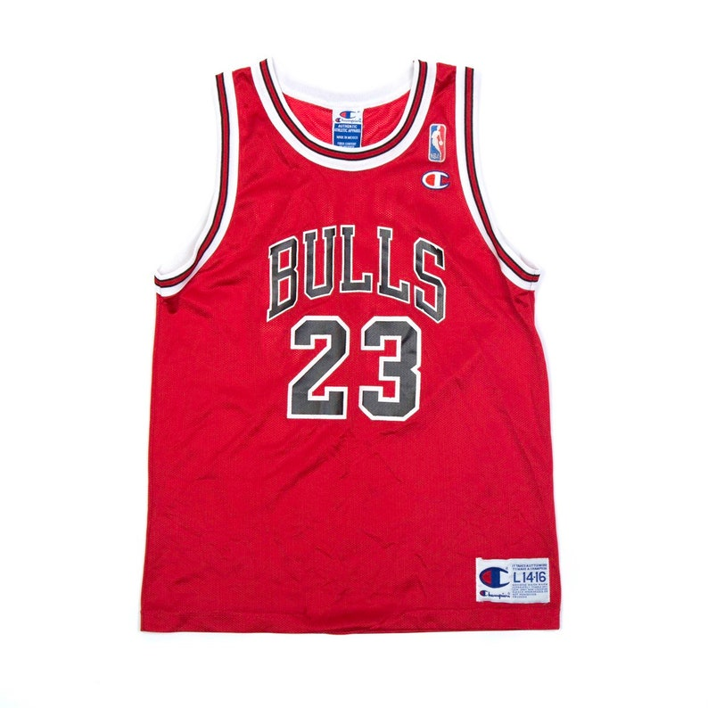 VTG Michael Jordan Champion Jersey  L 14-16 WMNS Small image 0
