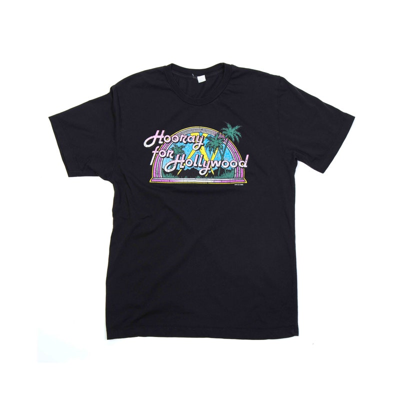 Hooray for Hollywood 1985 Vintage Tee  M image 0