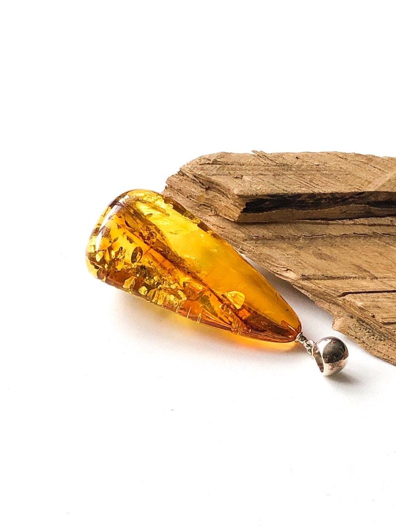 Large Natural Baltic Amber Pendant