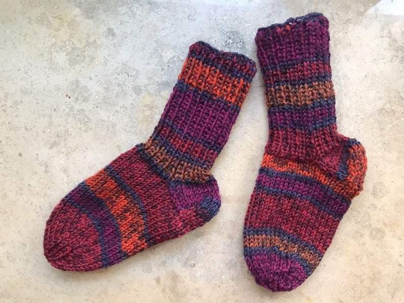 1 Pair kids socks hand knitted EU size 20 11,5cm fits age 9-12 months socks for children toddler hand knit