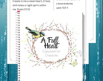 A Full Heart: Copywork for Character
