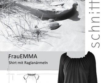 Cut pattern woman Emma shirt blouse ripe