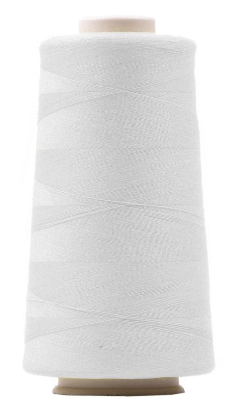 4 x Overlock yarn white sewing thread Overlock 3000 yard