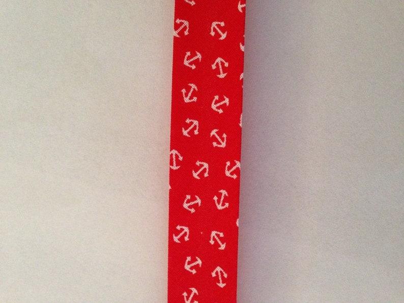 1 m diagonal band Maritim Anker 20 mm Red white