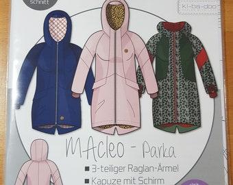 Cut pattern MACleo Kibadoo Raglan Parka jacket winter jacket ladies