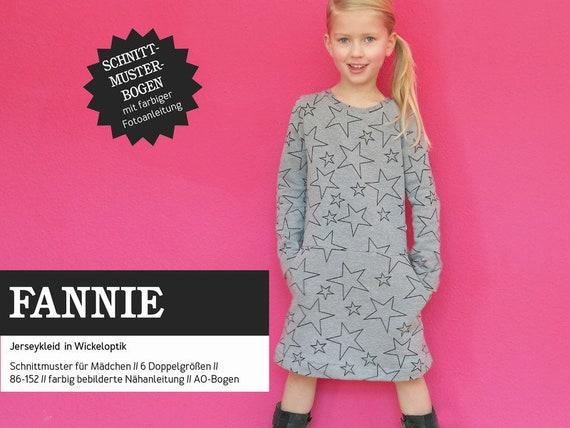 Schnittmuster Fannie Schnittreif Sweatkleid Mädchen | Etsy