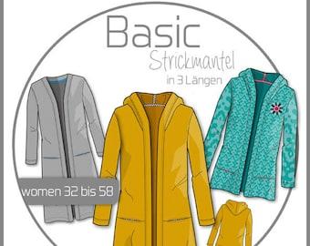 Cut pattern knitting coat Women's Basic Kibadoo knit