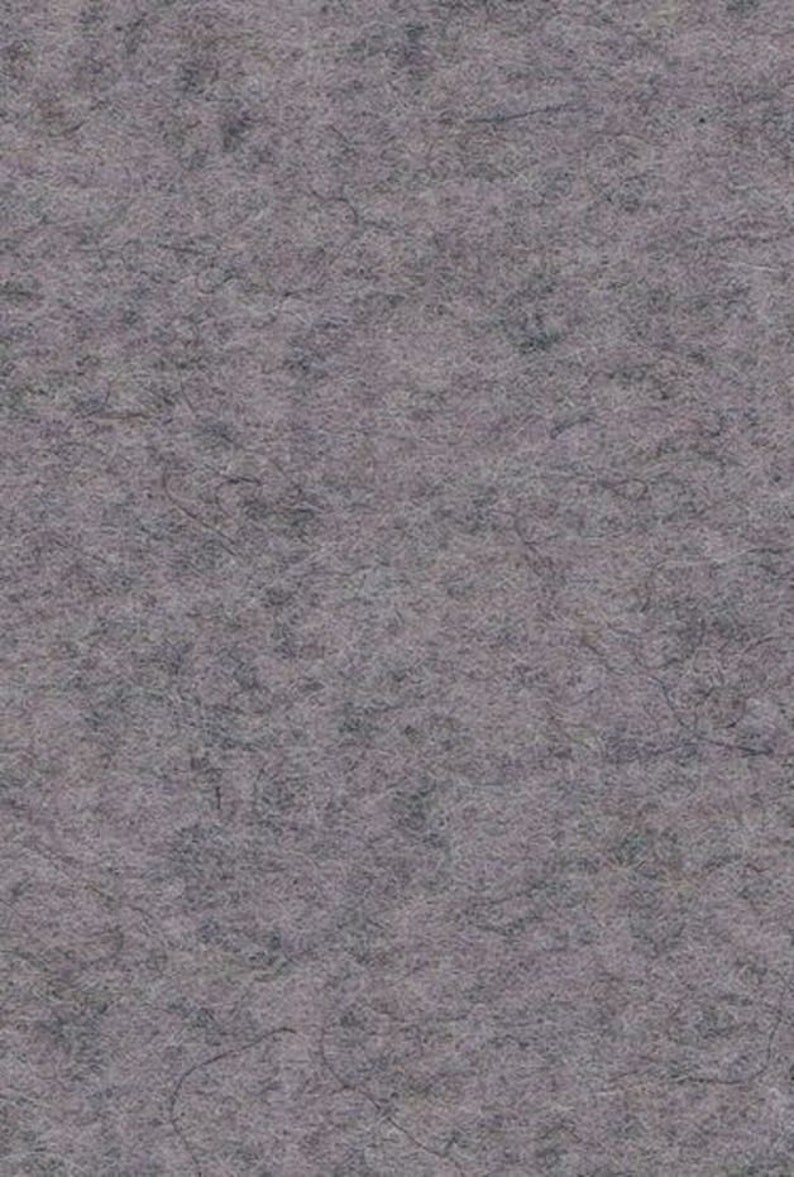 Wool felt cut 50 x 60 cm grey mottled 3 mm image 0