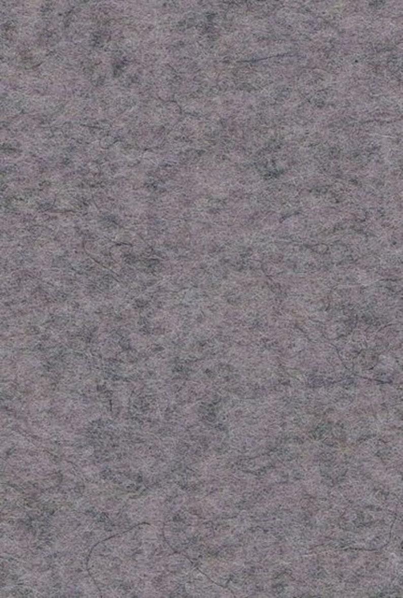 Wool felt cut 50 x 60 cm grey mottled 3 mm image 1