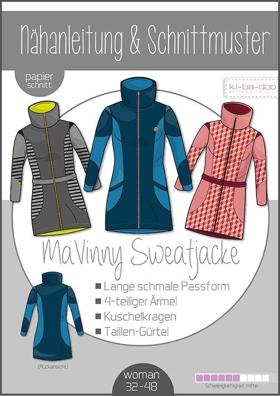 Cut Pattern Sweat Ladies Jacket Kibadoo Long Mavinny dCWoBerx