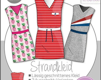 Cut pattern beach dress Basic Girl Girl Kids Kibadoo dress