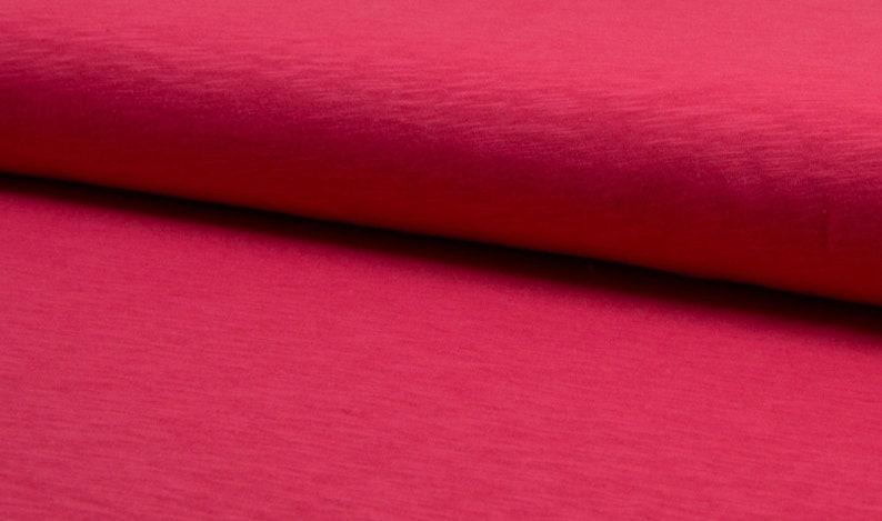 Cotton slub jersey pink coral image 0