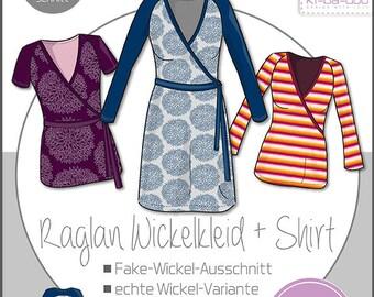 Cut pattern Raglan wrap dress Basic Women's Kibadoo