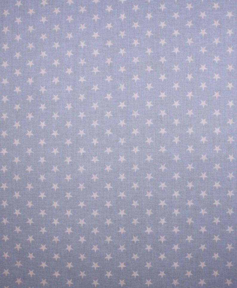 Fabric star sky blue light pink small Nähhimmel image 1