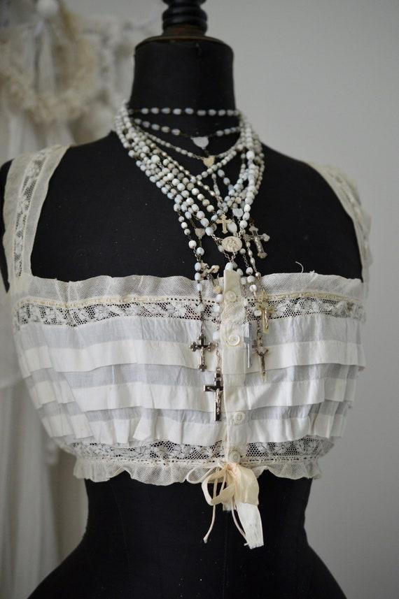 Vikt. Women's Bodice Corset Top Bralette Lace & R… - image 10