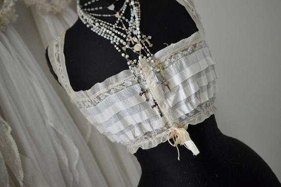 Vikt. Women's Bodice Corset Top Bralette Lace & R… - image 3