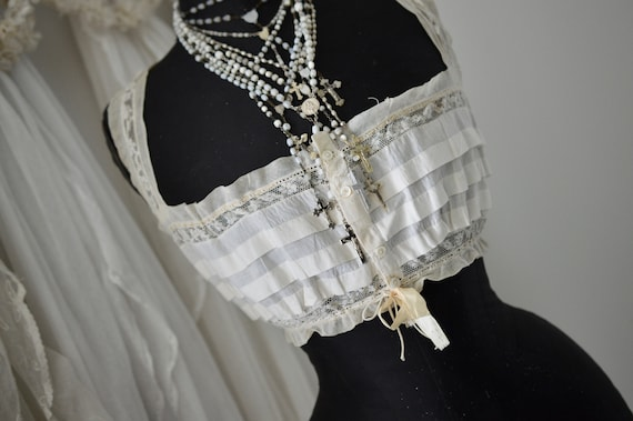 Vikt. Women's Bodice Corset Top Bralette Lace & R… - image 8