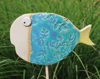 fish, garden plug, garden decoration, garden ceramics, ceramics, pond, garden pond