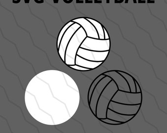 Volleyball SVG & DXF - Volleyball SVG for Cricut, Silhouette, Laser Cutter, etc.