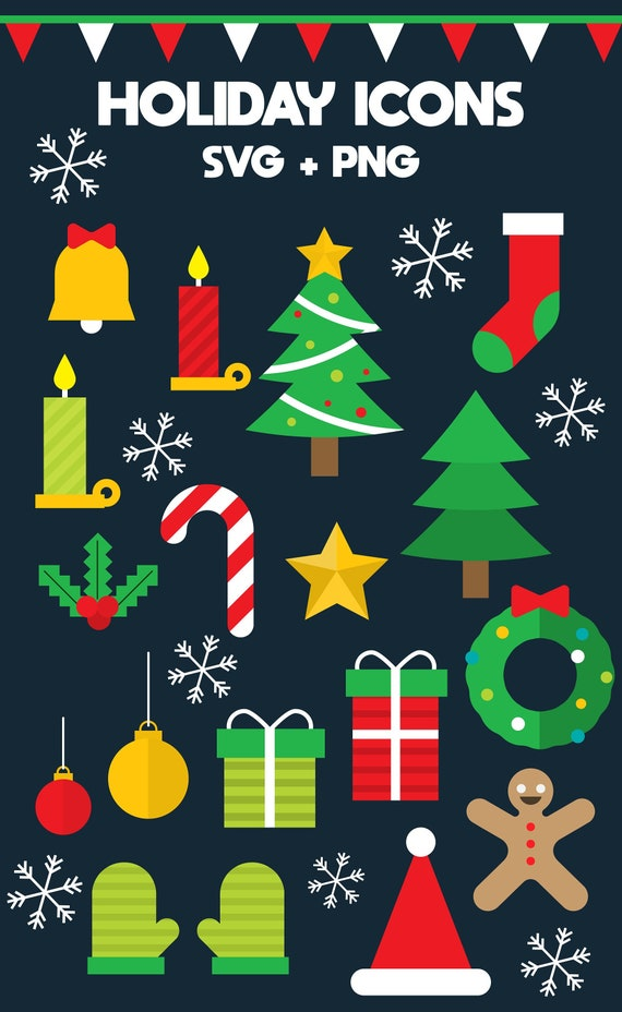 Holiday Clipart Svg Png Christmas Clip Art Commercial Etsy