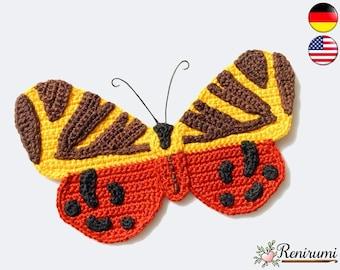 Crochet pattern butterfly • Renirumi