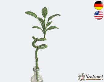 Crochet pattern lucky bamboo • plant • Renirumi