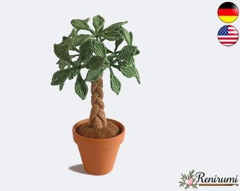 Crochet pattern lucky chestnut • pot plant • Renirumi