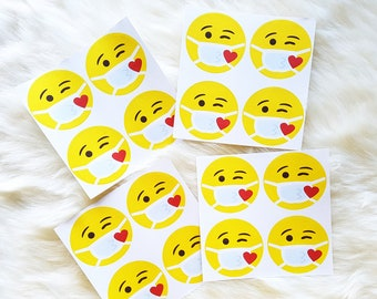 Sticker Kiss with Mouthguard   Various quantities to choose from   small greeting in times of Corona