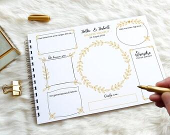 Goldene Hochzeit? DAS Geschenk! Gästebuchkarten mit gold-anmutendem Druck   Super Alternative zum klassischen Gästebuch!