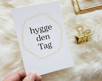 HYGGE POSTCARD   small hyggeliger greeting whether in times of Corona or so   simply cozy   #wirbleibenzuhause