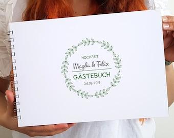 Gästebuchkarte mit Fragen und zum Einkleben von Fotos   Super Alternative zum klassischen Gästebuch!
