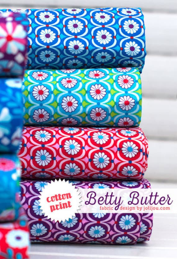 Coton Betty beurre rouge by Jolijou