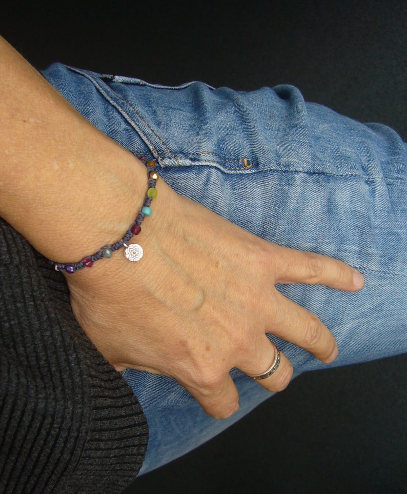 Pearl bracelet knotted bracelet gift for woman colorful image 0