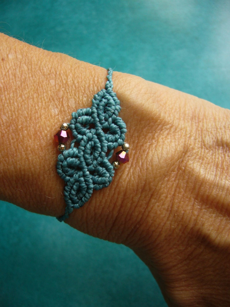 Macrame bracelet micromacrame bracelet summer jewelry gift image 0