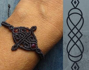 Micromakramee Bracelet, Macrame Jewelry, micromacrame bracelet, boho, Gift for Woman, Dark Blue