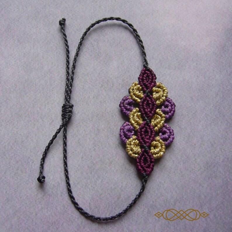 Macramé bracelet macrame jewelry micromacrame bracelet image 0