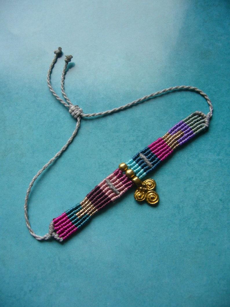 Macrame bracelet micromacrame bracelet gift for woman boho image 0