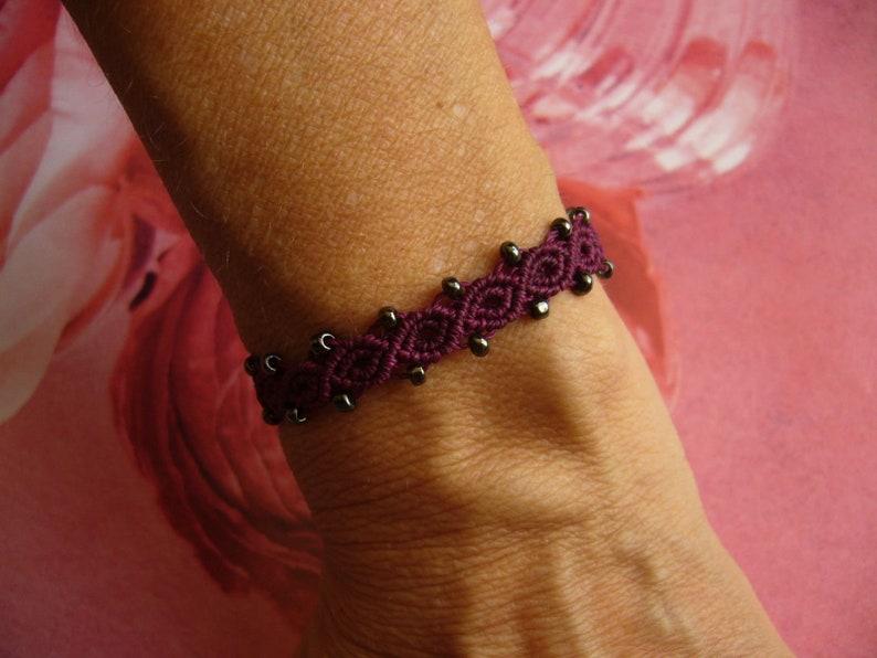 Macrame bracelet micromacrame bracelet gift for woman image 0