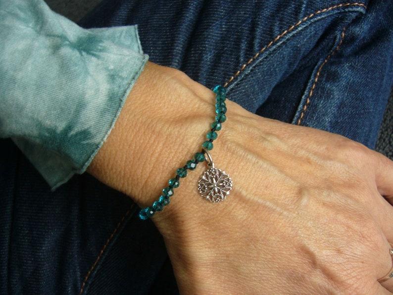 Boho bracelets glass beads knotted bracelets gift for image 0