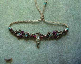 Bracelet macrame, micromacrame bracelet, macrame jewelry, gift for woman, boho, filigree, unique