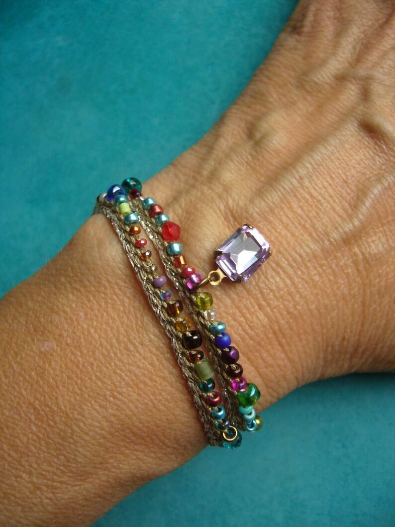 Double-breasted crochet bracelet crochet bracelet boho jewelry image 0