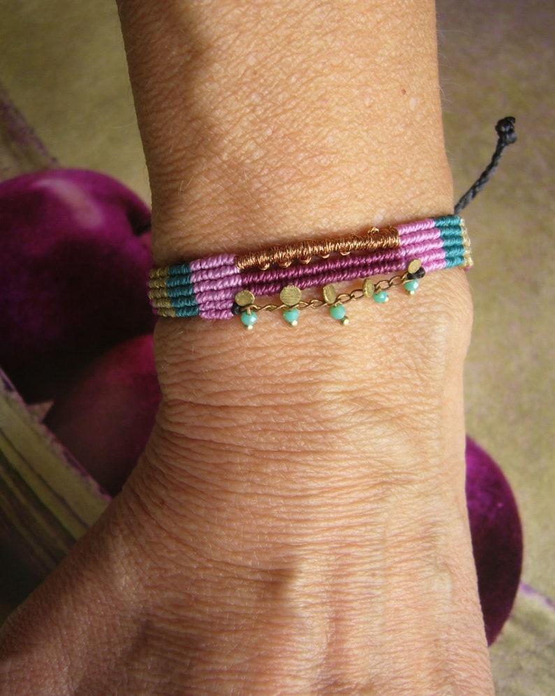Colorful micromakramee bracelet macrame bracelet image 0