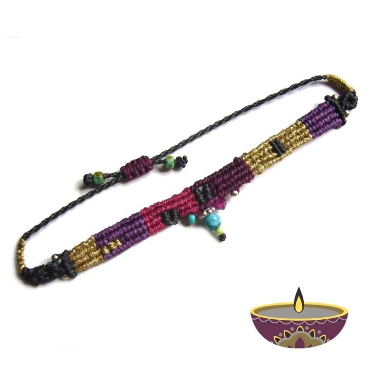 Micromakramee bracelet bracelet gift for woman macramé image 0