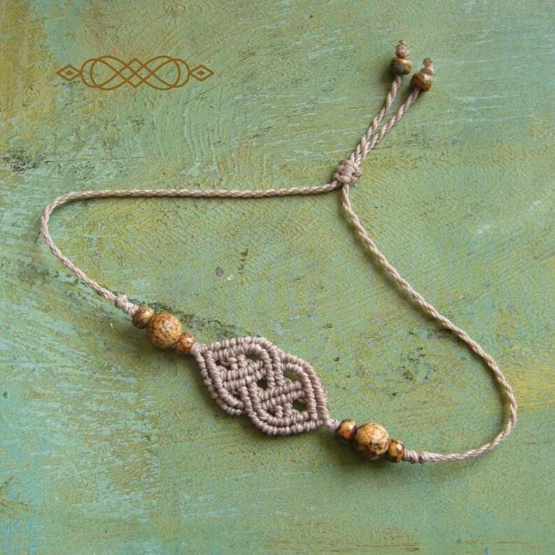 Macrame bracelet macrame jewelry micromacrame bracelet image 0