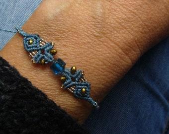 Filigree micromakramee bracelet, macrame jewelry, micromacrame bracelet, boho, gift for woman