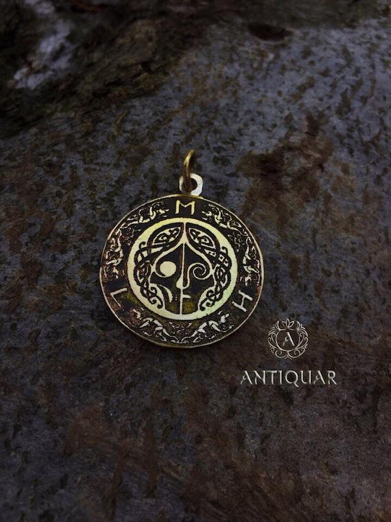 wicca goddess of death Hel Scandinavian God necklace Nordic Talisman