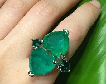Emerald Silver Ring Emerald Silver Pendant Zambian Emerald 1.00 Carat 100/% Natural Zambian Emerald Loose Gemstone Gift Finest Green