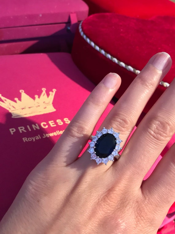Royal Sapphire Ring, Inspired by Princess Diana, c