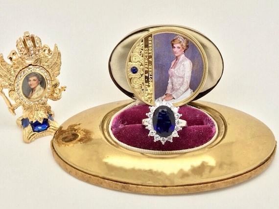 Sapphire and Diamond Ring, Princess Diana Style Ro