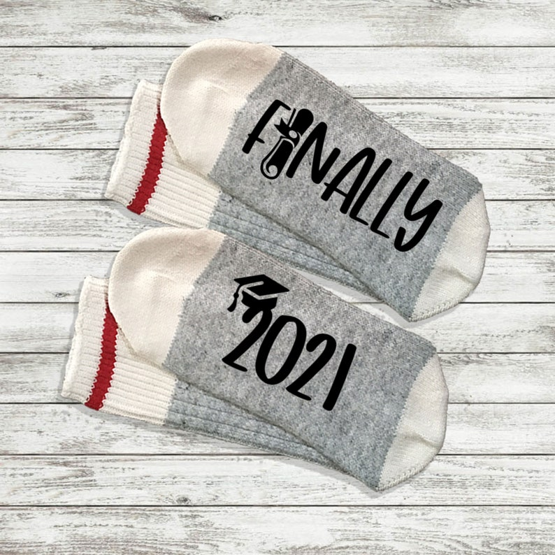 High School Graduation Gift for Her All This Hassle for the Tassel 2021 Graduation Gift College Grad Gift for Him Graduation Socks